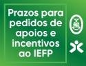 Prazos para pedidos de apoios e incentivos ao IEFP